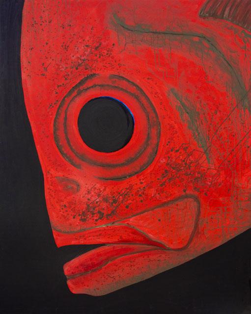 roter fisch - 2009 - 1200x1500 mm