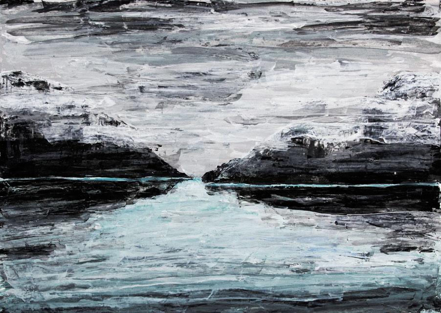 blau im nebel - 2004 - 700x500 mm