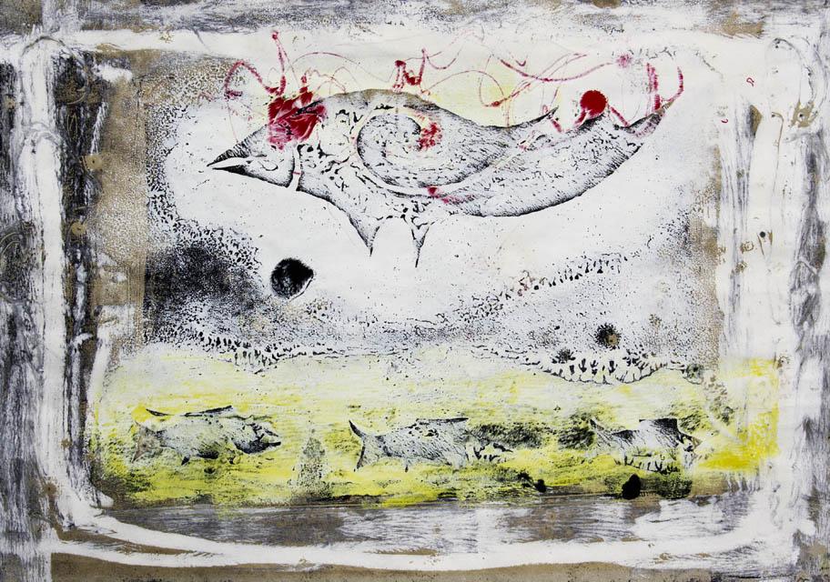 vogelfisch - 2008 - papier - 300x400 mm